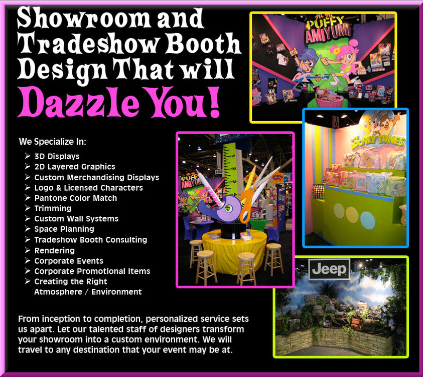 Showroom and Tradeshow Booth design that will Dazzle You!